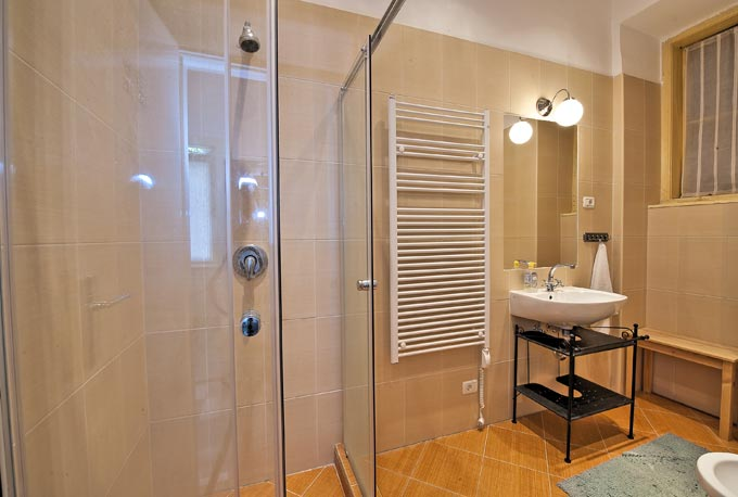 National Opera Apartment Budapest - bathroom with shower and sink