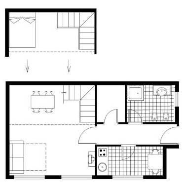 National Opera Apartment Budapest - plan