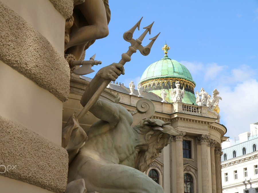 Details of the Hofburg Palace in Vienna