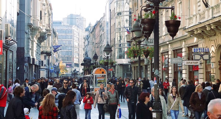 Knez Mihailova street - the focal point of Belgrade