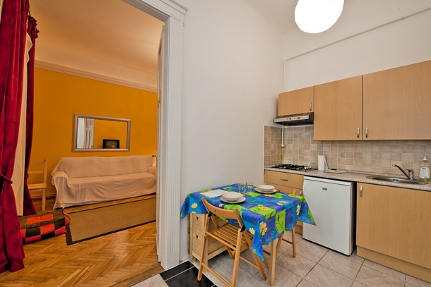 University Apartment Budapest - living room and kitchen