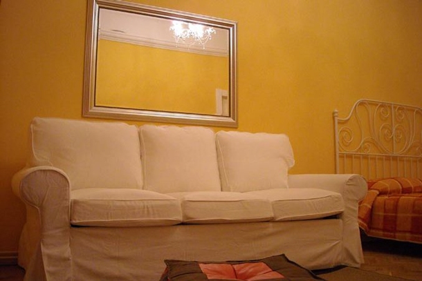 University Apartment Budapest - living room, sofa bed