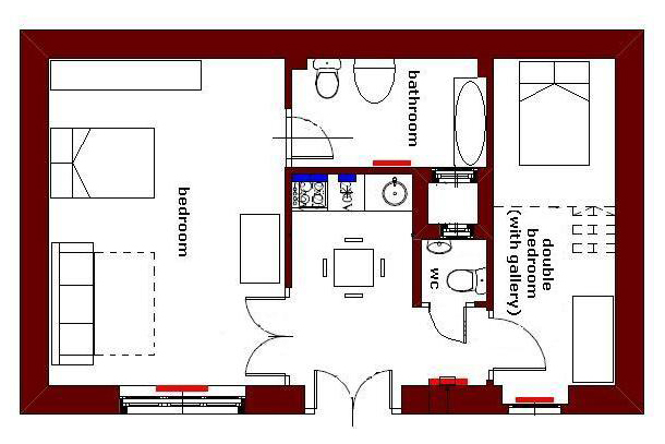 University Apartment Budapest - plan